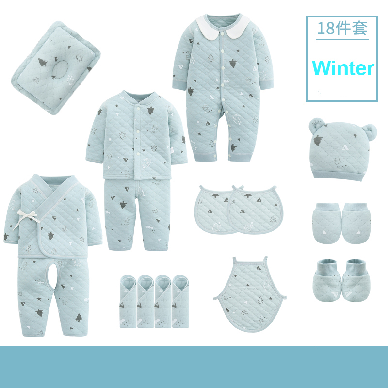 18pieces/0-3Months Spring Autumn Newborn Baby Clothing 100%Cotton Kids Clothes Suit Unisex Infant Boys Girls Clothing Set 5