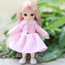 16 Cm 13 Movable Joint BJD Doll 1/12 Mannequin with Hinges Fashion Clothes Skirt Can Be Dressed Up As A Girl Toy Christmas Gift