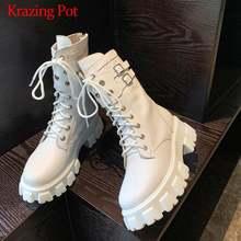 Ботинки krazing pot из коровьей кожи для отдыха мотоциклетные