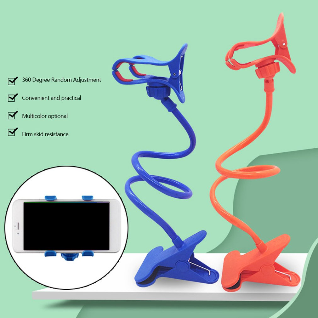 Universal Cell Phone Holder Long Arm Lazy Mount Bracket Stand For Desk Bed 360 Degree Flexible Car Phone Holder Stand