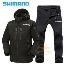 2021 SHIMANO Fishing Jacket Waterproof DAWA Fishing Hoodie Fishing Pants Winter Warm Windbreak Men SHIMANO Fishing Clothes