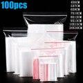 100 шт., пластиковые пакеты для хранения продуктов