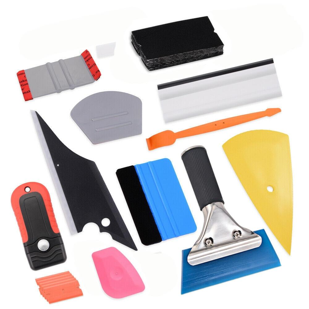 EHDIS Carbon Fiber Vinyl Wrap Car Tools Kit Auto Accessories Window Squeegee Foil Film Sticker Cutter Auto Tinting Tools Set