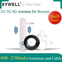 2G 3g 4G antena 800-2700mhz antena aérea omnidireccional antena de techo cable de 15 metros para 2G 3G 4G amplificador de señal móvil