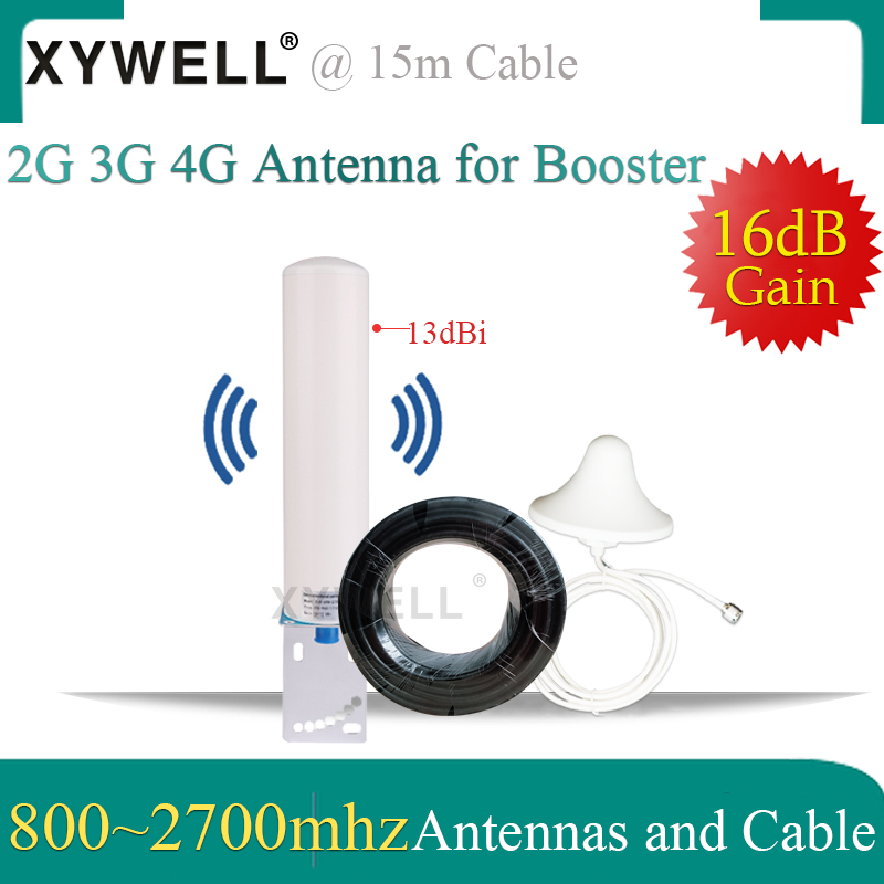 2g 3g 4G Antenna 800-2700mhz Aerial Omnidirectional Antenna Ceiling Antenna 15 Meter Cable For 2G 3G 4G Mobile Signal Booster