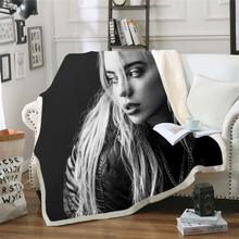 billie eilish 3d printed fleece blanket for Beds Hiking Picnic Thick Quilt Fashionable Bedspread Sherpa Throw Blanket style-7 stranger things blanket for beds hiking picnic travel winter thick couch cover hot movies bedspread sherpa fleece throw blanket