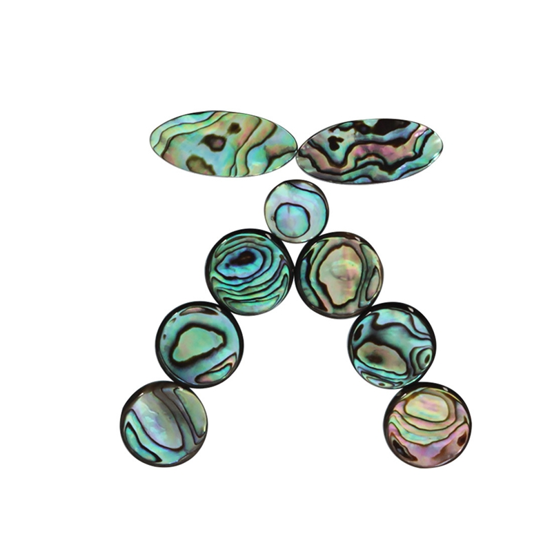 9Pcs/Set Abalone Shell Saxophone Key Button Inlays Replacement For Tenor/ Alto/ Soprano Sax Saxophone