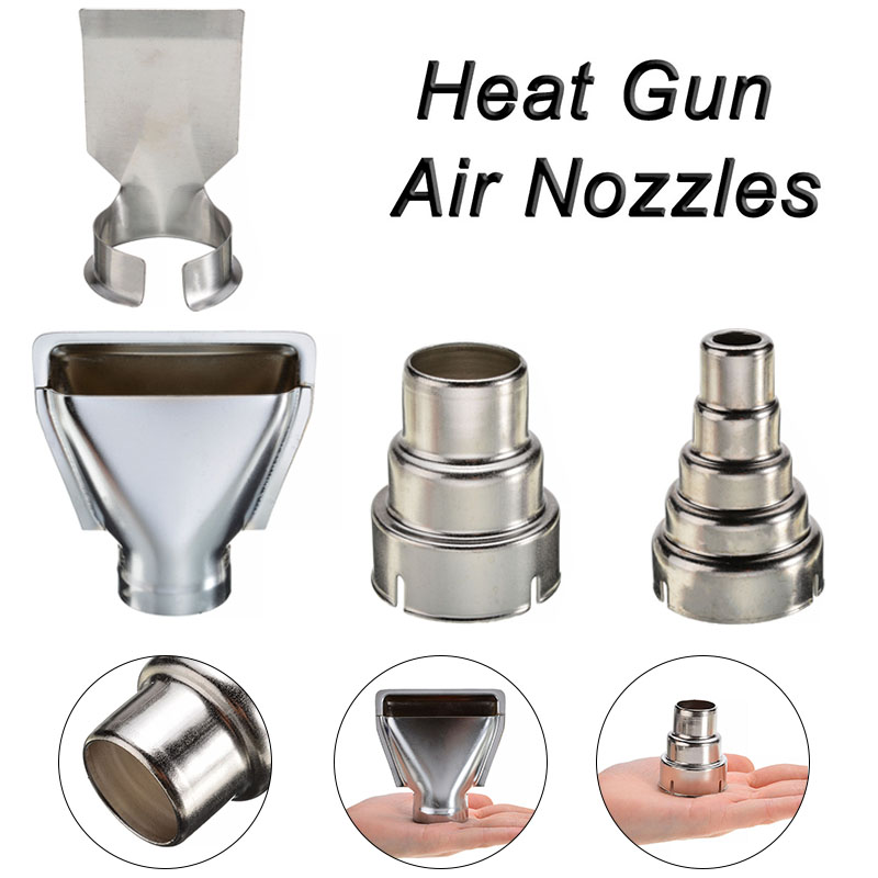 4Pcs Heat Gun Air Nozzles Inside Diameter Silver Electric Kit Accessories Industrial Tools Shrink Wrap 35mm