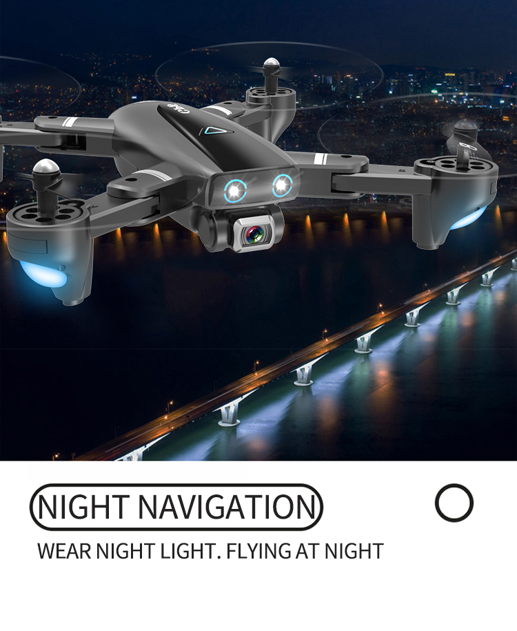 S167 Drone Built In LED Lights
