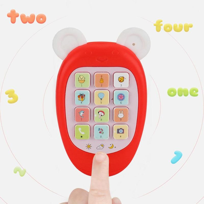 Electronic Music Toy Cartoon Phone Kid Mobile Phone Cellphone Telephone Educational Toys Funny Toys