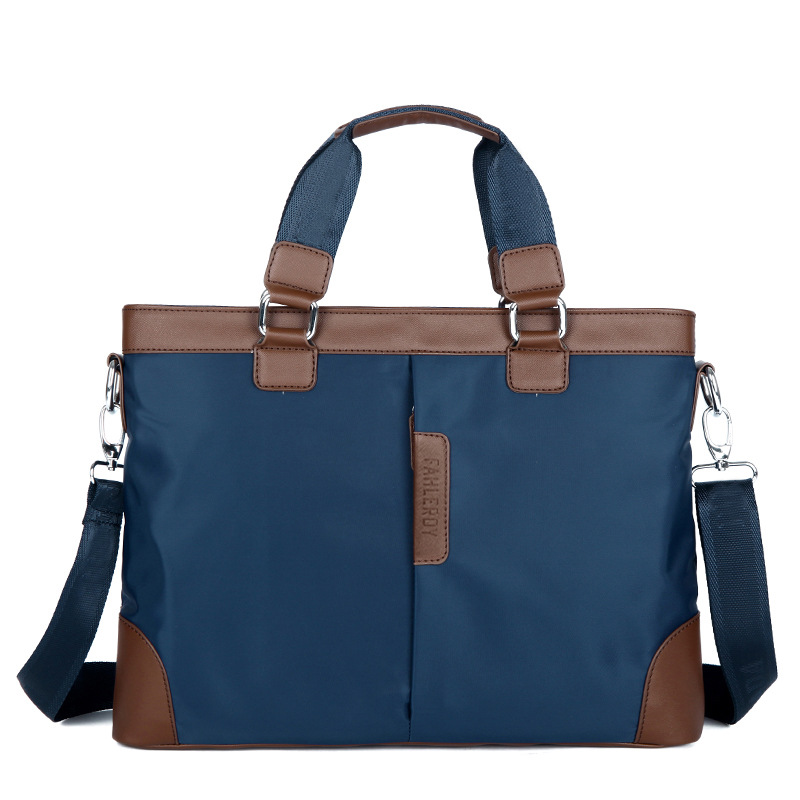 New Men's Briefcase Oxford And PU Leather Business Bag For Male Casual Shoulder Bags Travel Laptop Handbag Men Messenger Bags