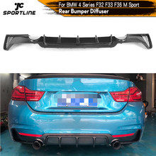 De fibra de carbono parachoques trasero difusor de labio de Spoiler para BMW serie 4 F32 F33 F36 M Gran Coupe sedán Convertible 2014 - 2018