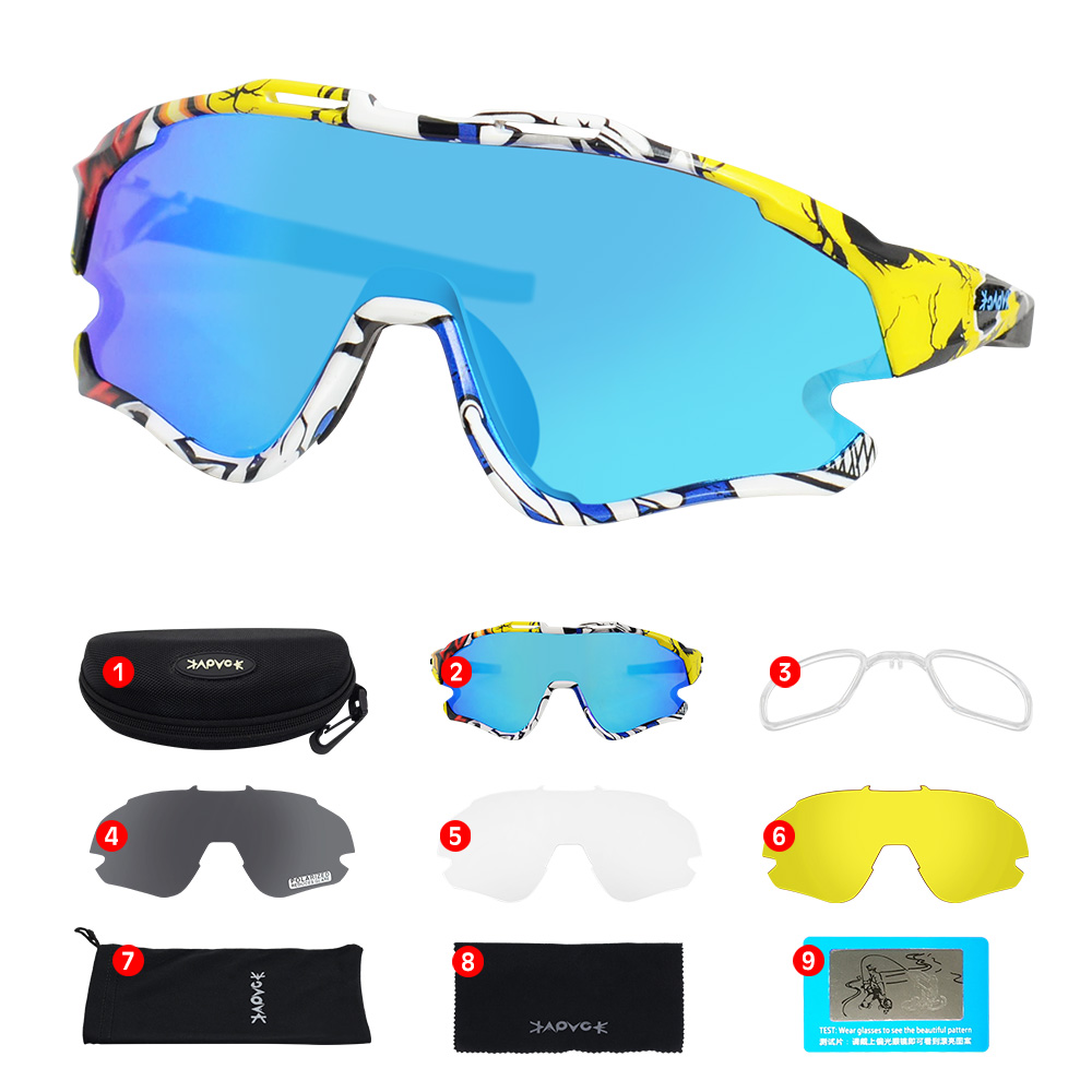 Cycling Sunglasses Professional Polarized Cycling Glasses MTB Road Bike Sport Sunglasses Bike Eyewear UV400 Bicycle Goggles 16