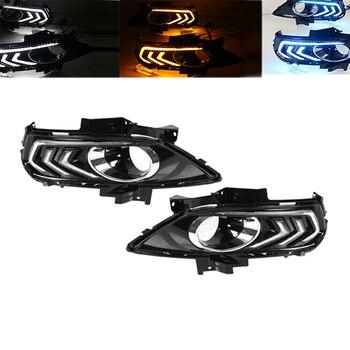 Car LED DRL Daytime Running Light Fog Light for Ford Fusion Mondeo 2013-2016 3 Colors