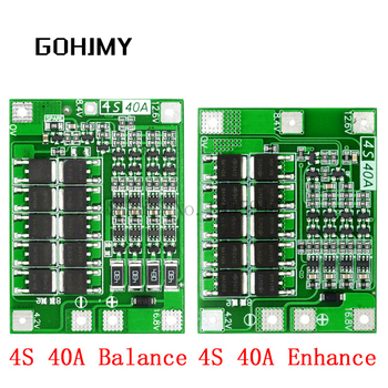 4S 40A Li-Ion Lithium-Batterie Schutz Bord 18650 Ladegerät PCB BMS Für Bohrer Motor 14,8 V 16,8 V Verbessern/Balance GOHJMY
