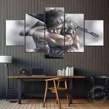 Unframed 5 Piece Zabuza Momochi Anime Poster Naruto Wall Pictures for Living Room and Sofa Background Decor Cartoon Artwork