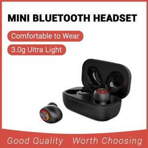 TWS Bluetooth беспроводные наушники 3D стерео мини V5.0 Bluetooth беспроводные наушники HIFI мини беспроводная Bluetooth-гарнитура