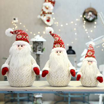 Christmas Snowman Old Man Doll Doll Doll Gift Desktop Christmas Shopping Mall Window Decoration Decoration Props christmas decoration old man snowman elk christmas gift small pendant plush doll christmas tree pendant decoration