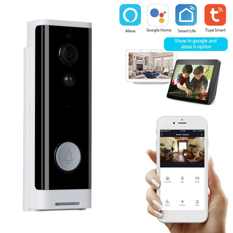 Tuya 1080P Smart Video Doorbell Wireless WiFi Video Intercom APP Remote Control Door Bell IP Camera Home Security Monitor