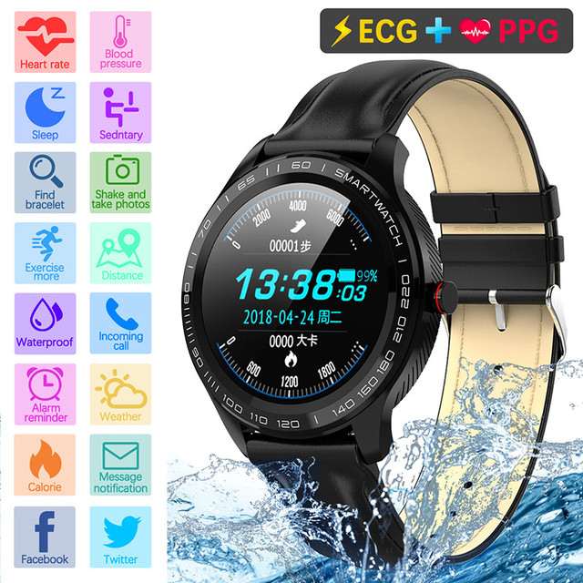 L9 Smart Watches ECG PPG Fitness Traker Information Push Phone Call Reminder Heart Rate Monitor Smartwatch For women men for IOS 3