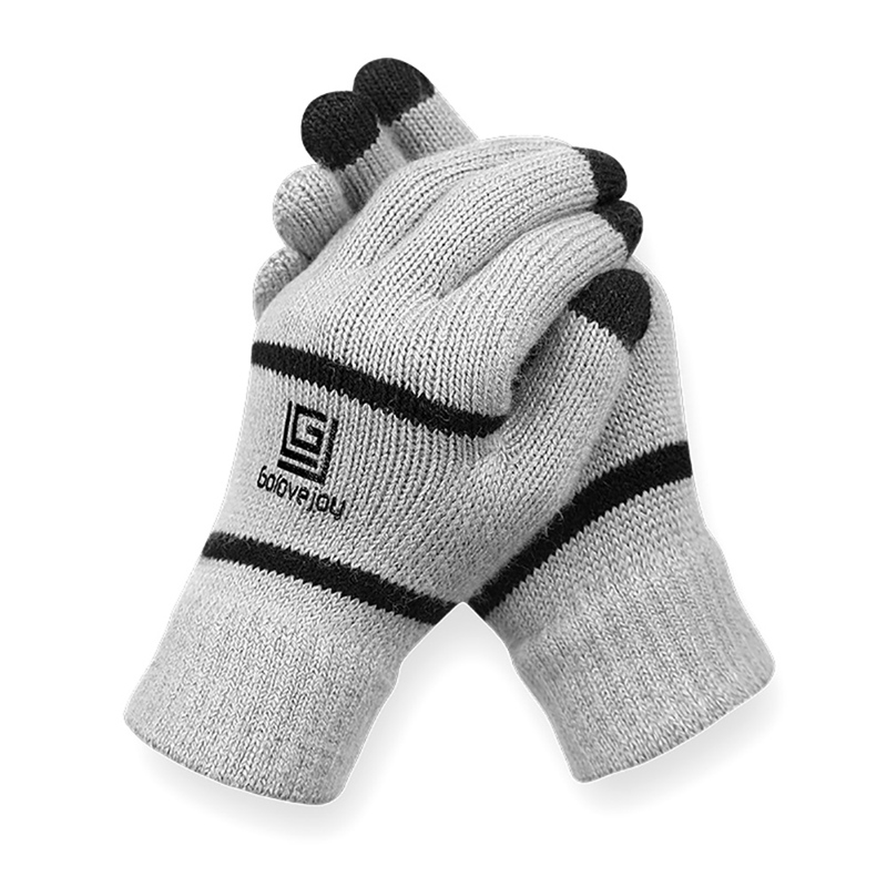 Warm Touch Screen Fitness Gloves Men And Women Knitting Cycling Gloves Winter Outdoor Sports Running Gloves