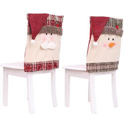 Dekoracja świąteczna śnieżynka Plaid pokrowiec na krzesło Home Decor pokrowiec na krzesło restauracja Hotel kwadratowy stołek dekoracja w Pokrowiec na krzesło od Dom i ogród na