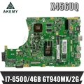 Akemy X456UQ материнская плата для ноутбука ASUS X456U X456UQ X456UB X456UQK X456UV материнская плата 4GB-RAM I7-6500U GT940M DDR4