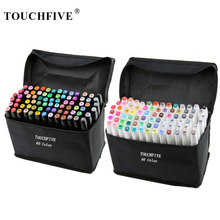 TouchFIVE Permanent Markers Alcohol Ink Markers Brush Dual T