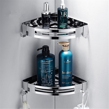 3 слоя уголок душ полка ванная шампунь душ полка держатель кухня место для хранения стойка перфорация бесплатно кухня штатив уголок подставка