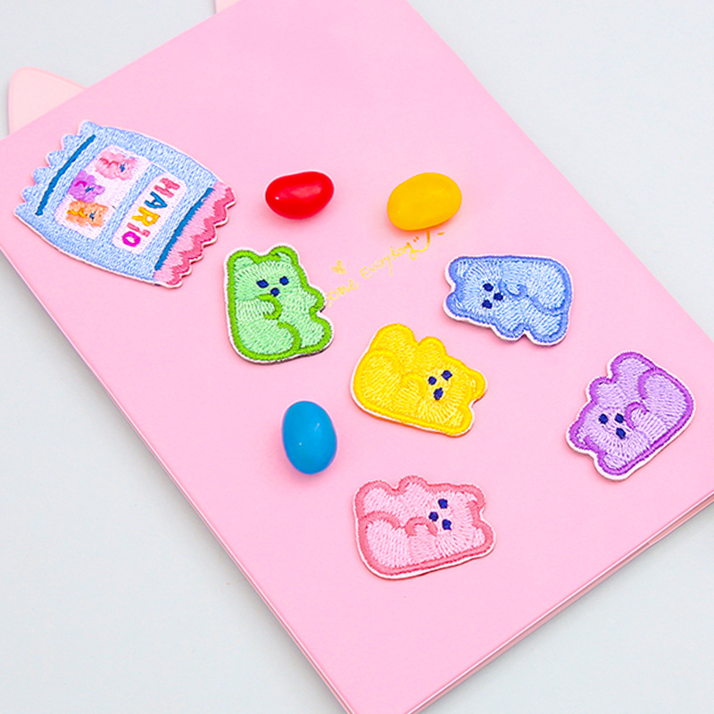 6PCS/LOT Colorful Jelly Cloth Stickers Girl Gift DIY Decoration Supplies