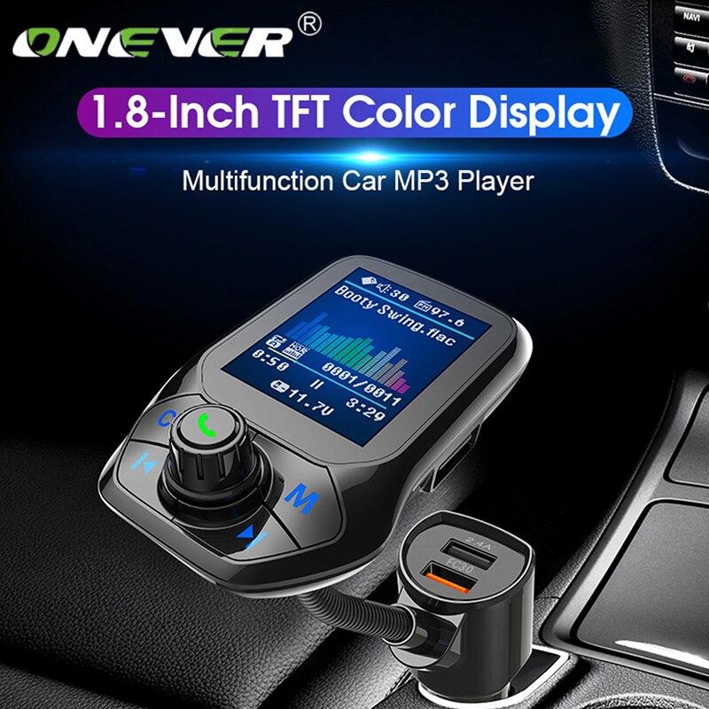 Onever Bluetooth 5.0 FM transmetteur Voiture modulateur Voiture MP3 lecteur Radio récepteur Double USB chargeur QC3.0 sans perte musique nouveau