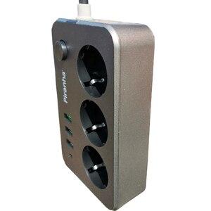 Image 4 - Filtre réseau prise USB bande dalimentation intelligente prise ue avec cordon dextension 2 M protection contre les surtensions large tension pour le bureau à domicile