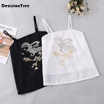 2020 lace camisole women female sexy chinese traditional camisole silk chinese hanfu vest strappy camis camisole фото