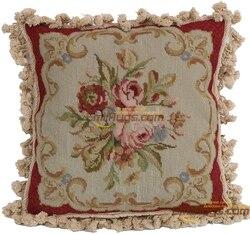 morden garden handmade needlepoint pillows rose  vintage pillowcases luxury villa-style home  98006-3 45x45cm gc165neecusyg15