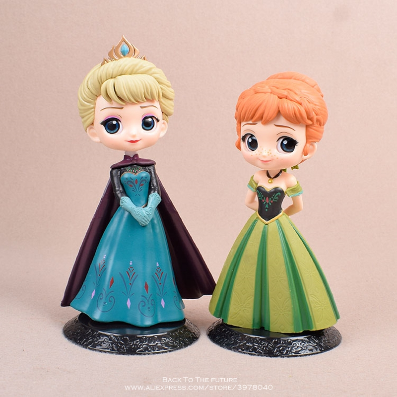 Disney Frozen Anna Elsa Princess 14cm Mini Doll Action Figure Anime Mini Collection Figurine Toy Model For Children Gift