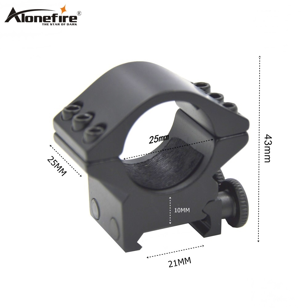AloneFire25DK-3 25mm Ring Weaver 21mm Rail Dovetail Base Picatinny Airsoft Rifle Shot Gun Light Laser Sight Scope Hunting Mount