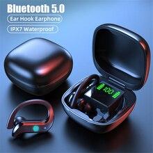 BYKRSEN TWS Bluetooth 5.0 Earphones Wireless Headphones Waterproof Sport Ear Hook Bass Earbuds With Mic Headset For iOS Android