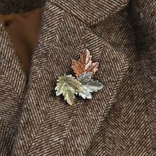 Maple Leaf Brooch Metal Vintage Women Girl CharmingExquisite Collar Lapel Pin Fashion Jewelry Party Garment Accessories 2019(China)