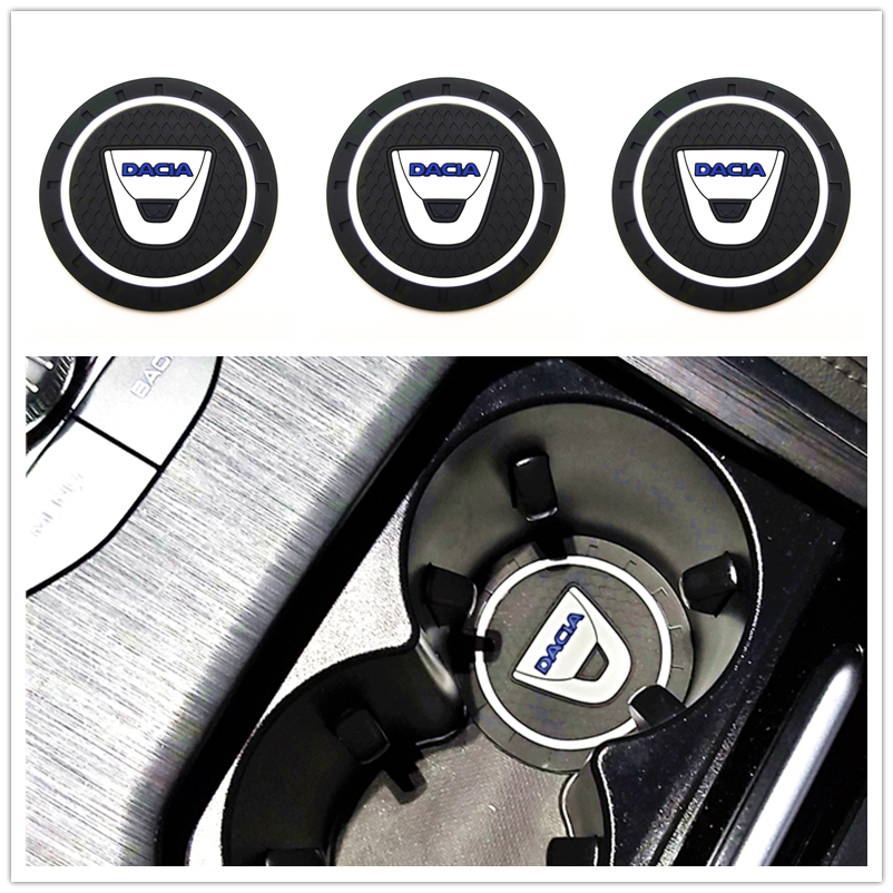 3D Fashoin Car Coaster Mat For Dacia Lodgy 2 Mcv Sandero Duster Logan Sandero Motor Car Styling Accessories Automobiles