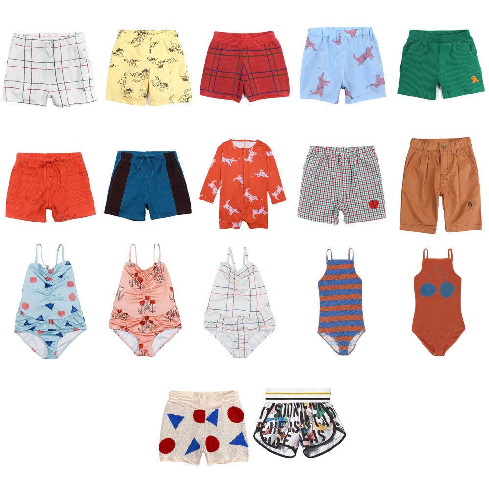 IN STOCK Kids 2019 Swimwear Bobo Summer Girls Cute One-piece Swimsuit Boys Swimwear Shorts T-shirt Vacation Beach Baby Clothing