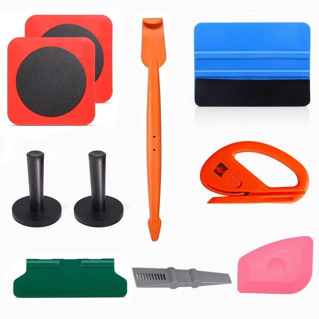 FOSHIO Vinyl Wrap Car Accessories Tools Set Carbon Fiber Squeegee Glass Window Tint Film Adsorption Sheet Magnet Holder Fix Tool