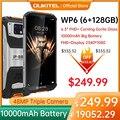 OUKITEL WP6 6 ГБ 128 10000mAh смартфон 6,3 ''fhd Водонепроницаемый мобильный телефон Octa Core 48MP тройные камеры прочный телефон