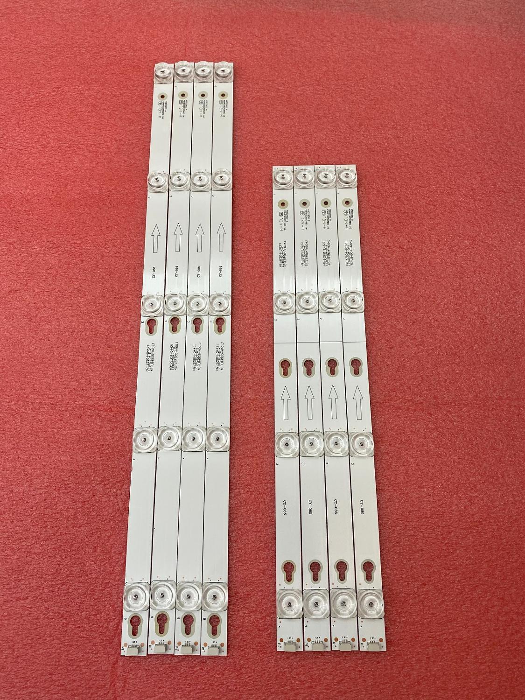 8pcs LED Backlight Strip For 49S405 49S403 2D02900 2D02899 LVF490CSOT D49A620U 49D2900 A B 49HR330M04B0 49HR330M05A0 V6 U49P6066