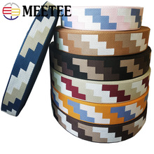 Meetee 10Meters 38mm 1.8mm Thick Polyester Jacquard Webbing Luggage Decor Belt Ribbon DIY Bags Strap Webbings Trims Accessories