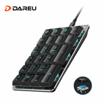 DAREU LK170 Wired mechanical Numeric keyboard 22 Keys Blue Switch Mini Digital Keypad With Blue LED light For PC Laptop Computer