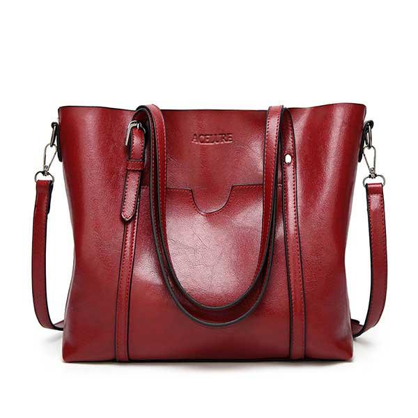ACELURE Women bag Oil wax Women's Leather Handbags Luxury Lady Hand Bags With Purse Pocket Women messenger bag Big Tote Sac Bols