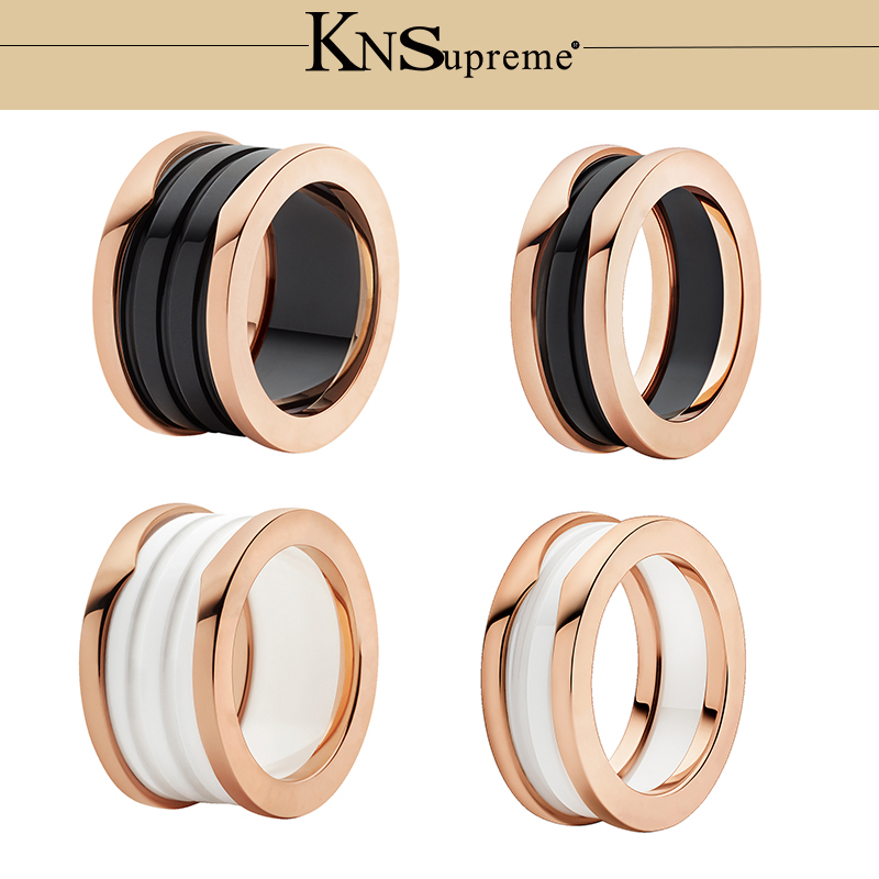 KN Bulgaria s925 ceramics Ring set gift 1 1 Original 100 925 Sterling Silver Women Jewelry High end Quality Gift Have logo in Engagement Rings from Jewelry Accessories