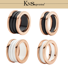 KN  Bulgaria s925 ceramics Ring set gift 1:1 Original 100% 925 Sterling Silver Women Jewelry High-end Quality Gift Have logo