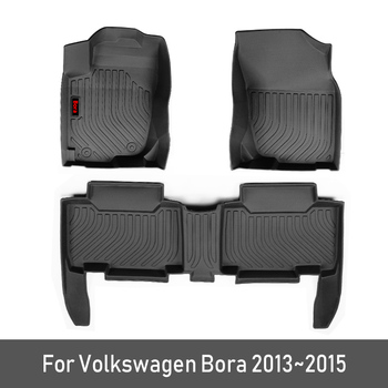 2020 New TPE Custom Car Floor Mats For Volkswagen VW Bora Accessories 2013 2014 2015 Foot Pads Automobile Car Carpet Styling