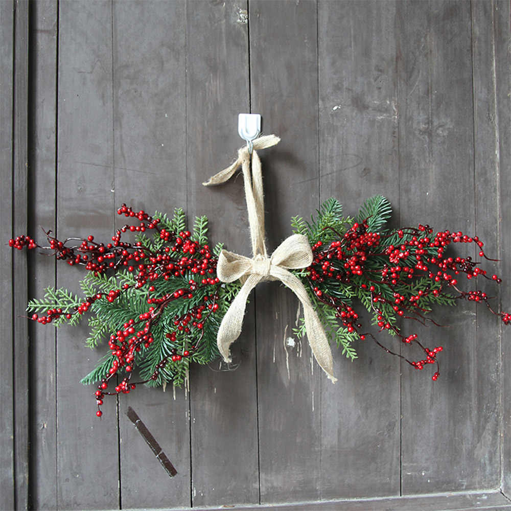 Artificial Flowers Hanging Berry Wreath